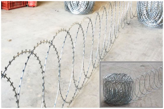 Razor Wire Panels with Clips