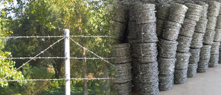 Galvanized Barbed Tape Anti-Climbing Fence Topping