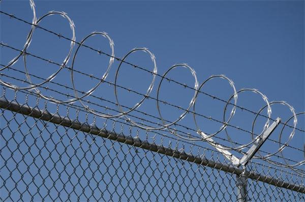 Galvanized Razor Wire Mobile Barrier